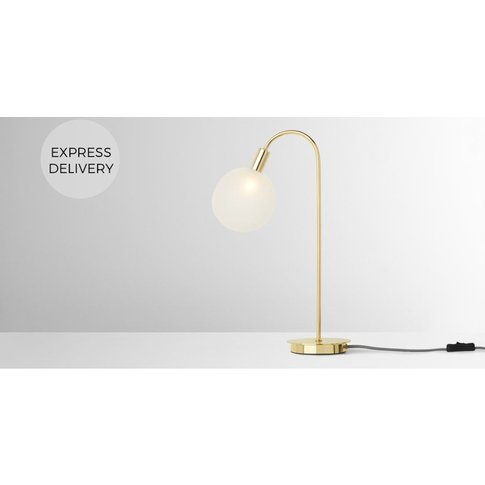 Boll Table Lamp Tall,  Brass & Frosted Glass