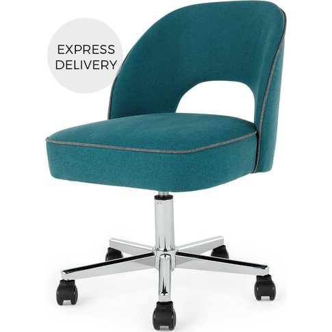 Lloyd Office Chair, Mineral Blue and Marl Grey