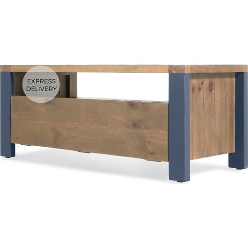 Bala Media Unit, Solid Wood and Blue
