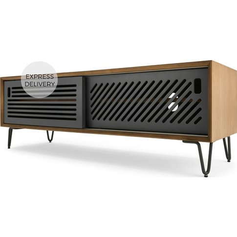 Pointillee Media Unit, Walnut And Grey