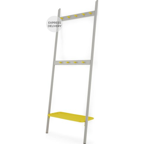 MADE Essentials Edith Coat Stand, Chartreuse and Grey