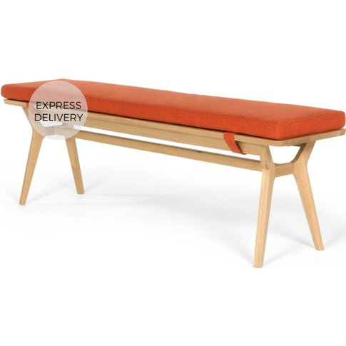 Jenson Bench, Oak and revival Orange