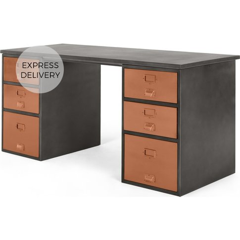 Stow Storage Desk, Copper