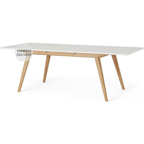 Aveiro Extending Dining Table, Natural Oak And White