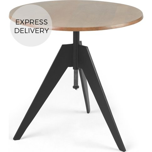 Javier Bistro Round Compact Swivel Dining Table, Man...