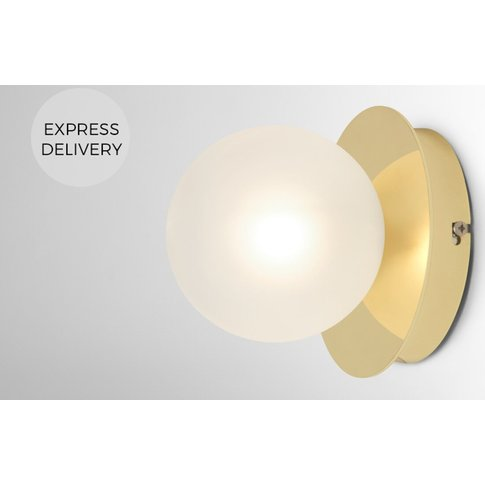 Boll Wall Lamp, Brass & Frosted Glass