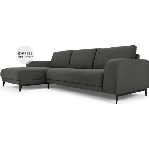 Luciano Left Hand Facing Chaise End Corner Sofa, Hudson Grey