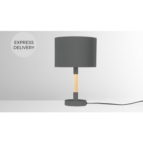 MADE Essentials Kyle Table Lamp, Charcoal Grey
