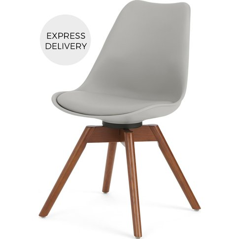 Thelma Office Chair, Dark Stain Oak And Grey