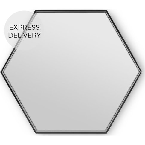 MADE Essentials Bex Hexagon Lacquered Mirror 78 x 68...