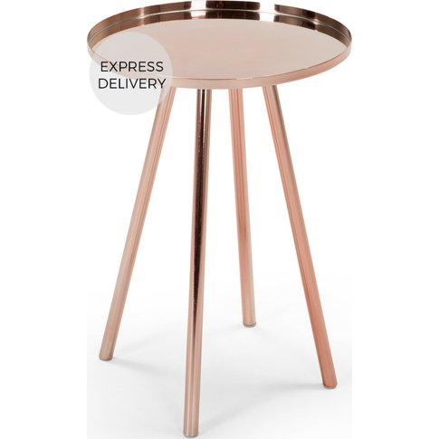Alana Bedside Table, Copper
