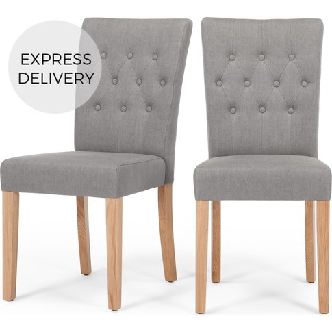 Set Of 2 Flynn Dining Chairs, Graphite Grey
