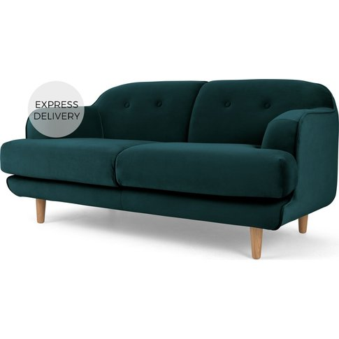 Gracie 2 Seater Sofa, Seafoam Blue Velvet