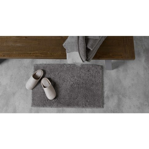 Aire Reversible Bath Mat, 50x80cm, Slate Grey