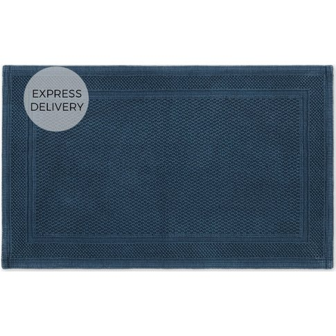 Jessa 100% Cotton Bath Mat, Deep Navy