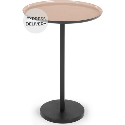 Rayit Side Table, Pink and Black