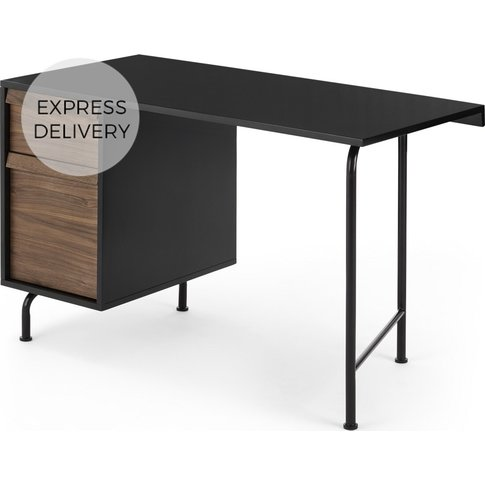 Milford Desk, Black And Walnut