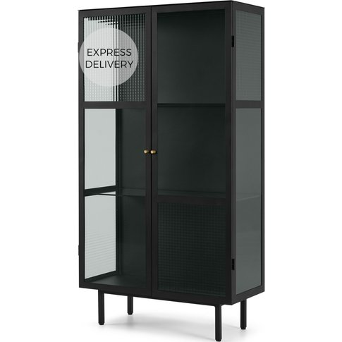 Marden Cabinet, Charcoal Grey and Glass