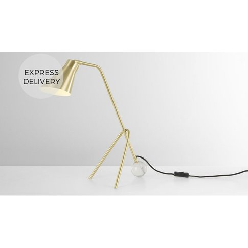 Eyre Table Lamp, Brass And Marble