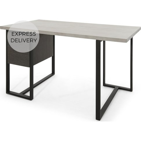 Claus Concrete Desk, Grey
