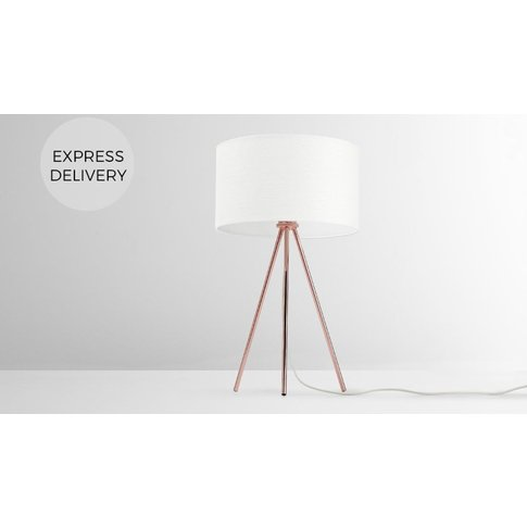 Frances Tripod Table Lamp, Copper