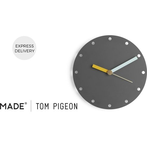 Assembly Tom Pigeon Wall Clock, Charcoal