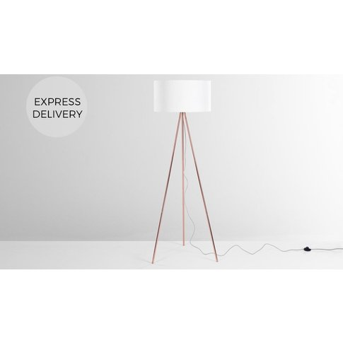 Frances Tripod Floor Lamp, Copper