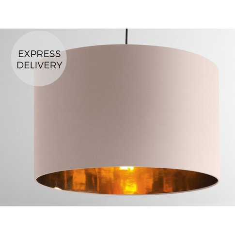 Oro Extra Large Pendant Drum Lamp Shade, Pink and Co...