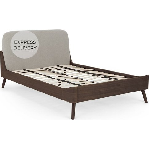Ada Kingsize Bed, Dark Stain Oak