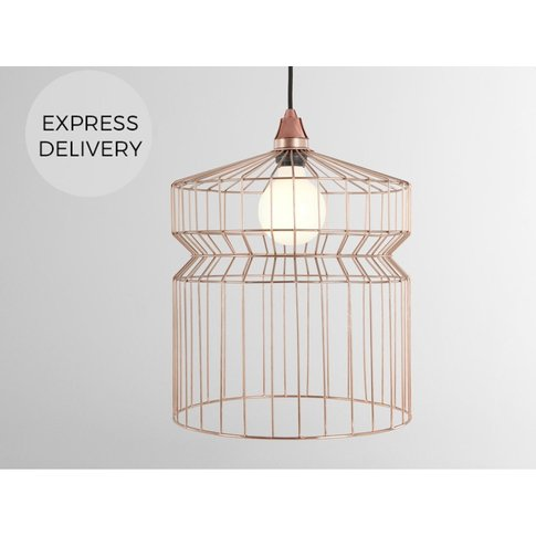Hydra Large Wire Lamp Shade Tall, Copper