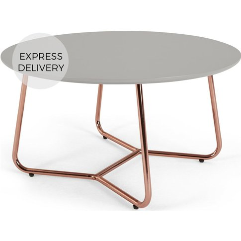 Nyla Coffee Table, Grey And Copper