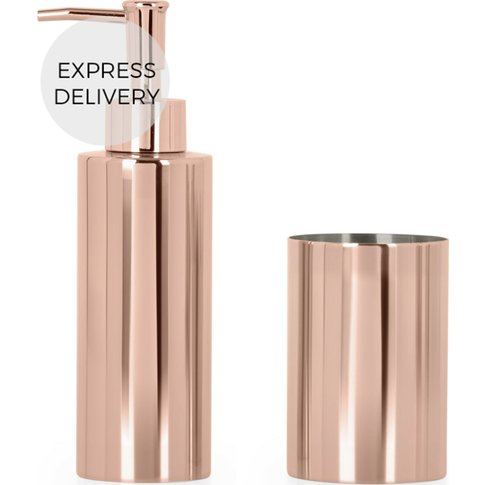 Lilo Soap Dispenser And Tumbler Set, Copper