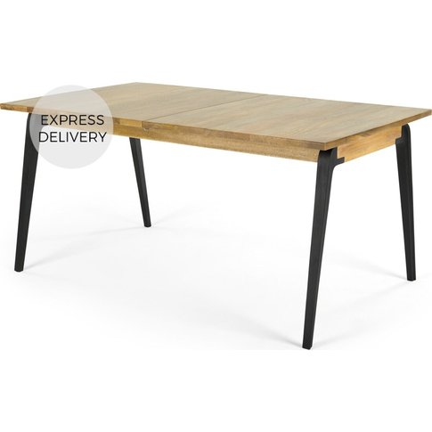 Lucien 8 Seat Extending Dining Table, Light Mango Wood