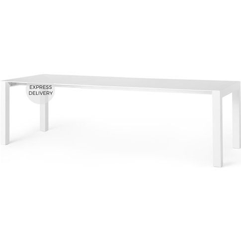 Bramante 6-12 Seat Extending Dining Table, White