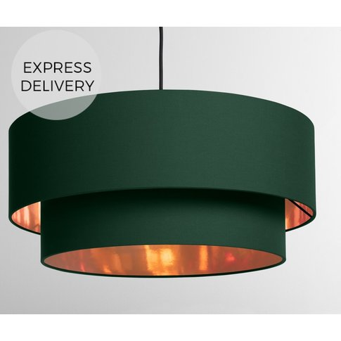 Oro Layered Pendant Drum Lamp Lamp Shade, Green And ...
