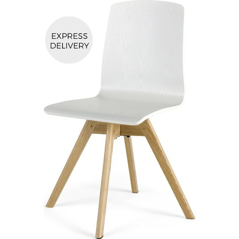 Dante Swivel Office Chair, Ash And White