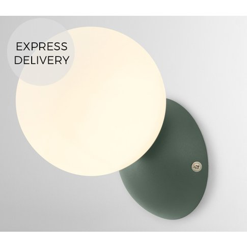 Vetro Wall Light, Peacock Green and Opal Glass