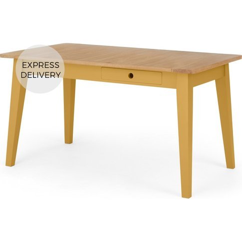 Ralph Compact Dining Table, Mustard Yellow