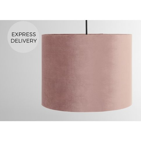 Carmella Drum Lamp Shade Tall, Old Rose Velvet