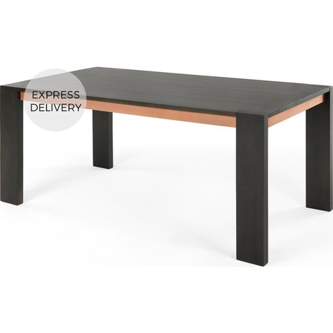 Anderson 8 Seat Dining Table, Grey Mango Wood And Co...