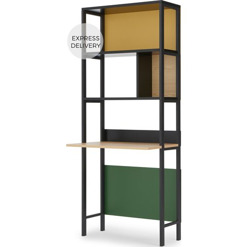 Duncan Storage Desk, Multicolour