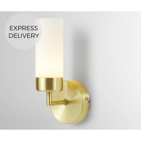 Eddis  Bathroom Wall Lamp, Brushed Brass