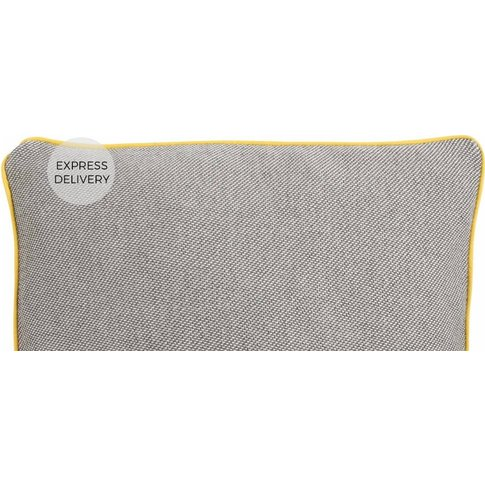 Malone 35 x 50cm 100% Cotton Cushion, Grey