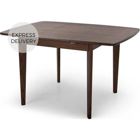 Monty 2-4 Seat Extending Dining Table, Dark Stain Ash