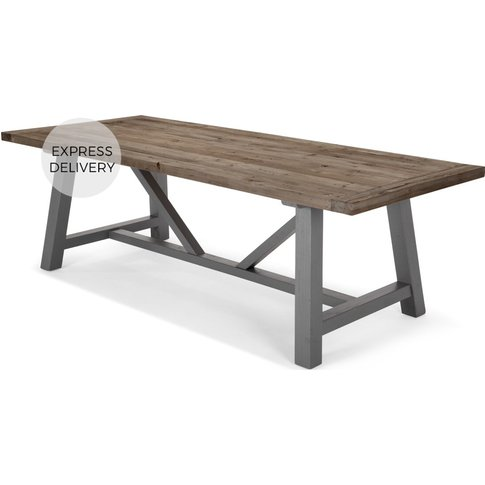 Iona 10 Seat Extra Large Dining Table, Solid Pine an...