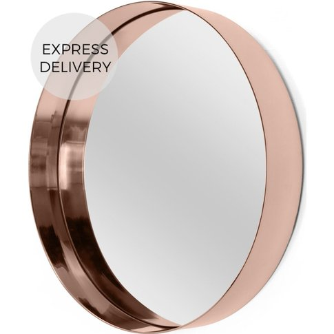 Alana Round Wall Mirror Extra Large 80 X 80 Cm, Copper