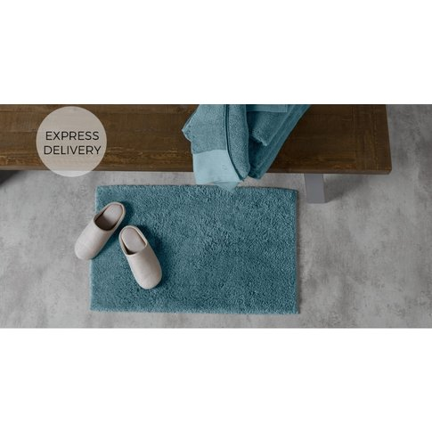 Aire Reversible Bath Mat, 50x80cm, Teal Blue
