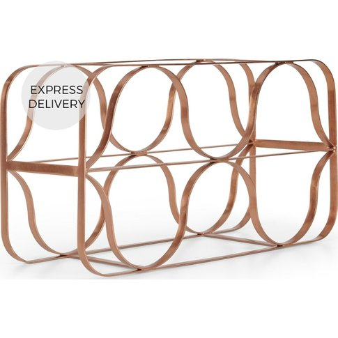 Tippi 6 Bottle Wine Rack, Copper