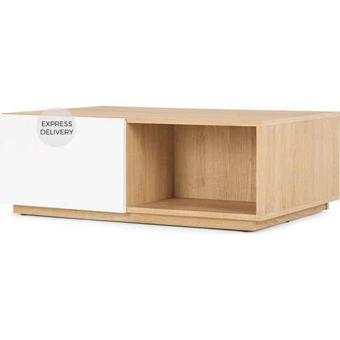Made Essentials Hopkins Coffee Table, Oak And White