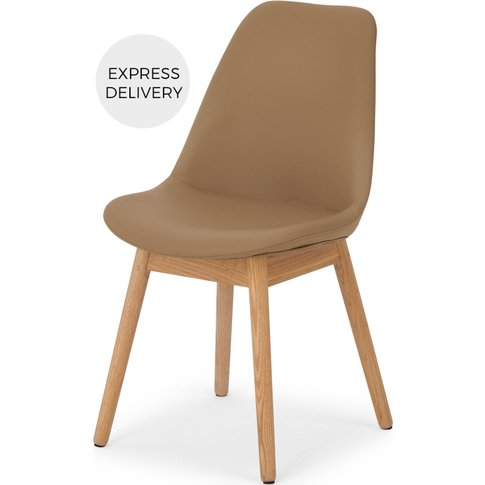 Thelma Dining Chair, Tan Pu And Oak
